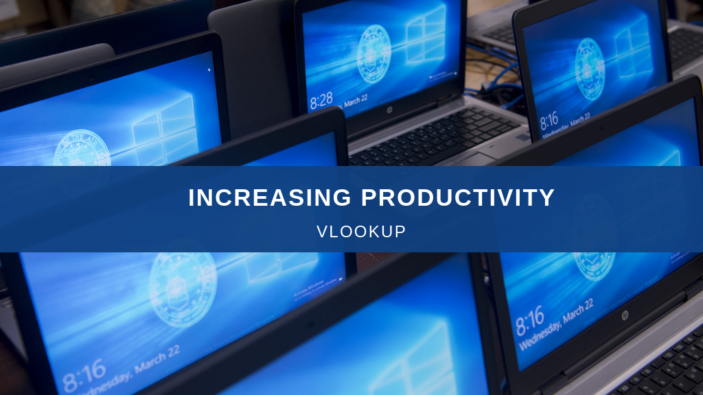 Image of increasing productivity using Vlookup