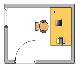 Image of an office layout