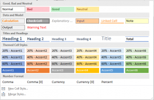 Image of Excel Styles