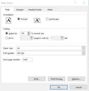 Image of Page-Setup-Options