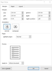 Image of Page-Setup-Word