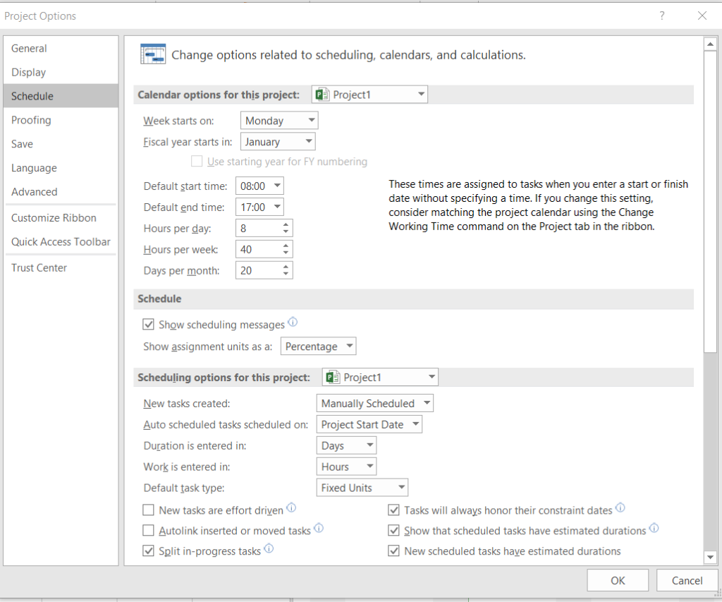 Image of scheduling options