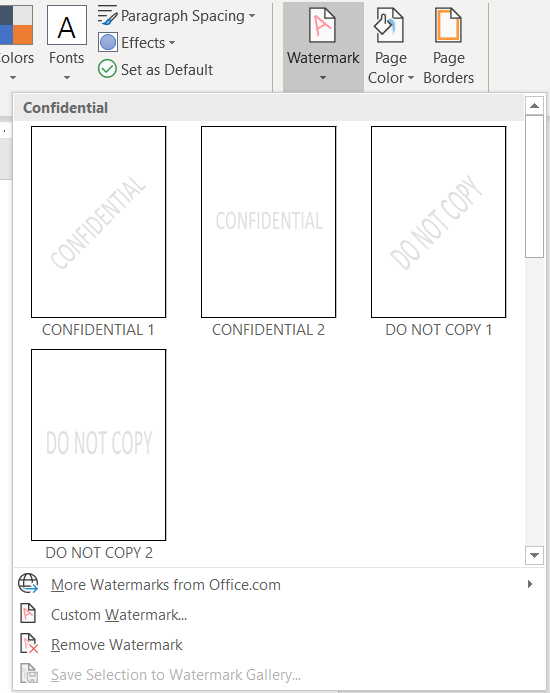 Image of watermark options