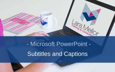 PowerPoint Subtitles