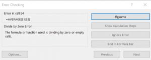 Image of error checking