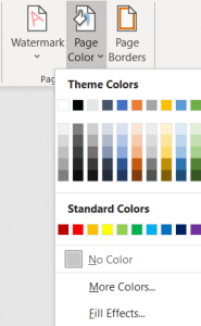 Image of Page Colour