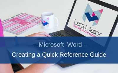 How to create a Quick Reference Guide in Microsoft Word