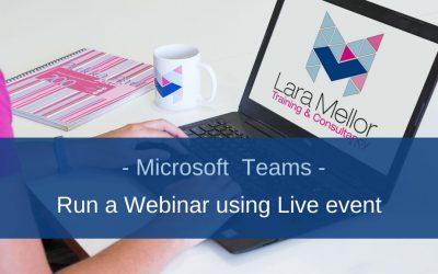 Can I run a webinar from Microsoft Teams?
