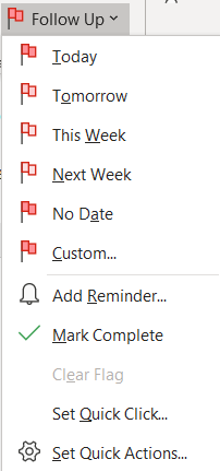 Date flags in Microsoft Outlook