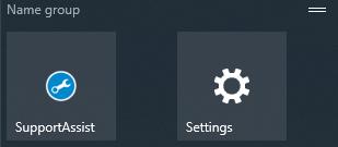 Name group in Start menu