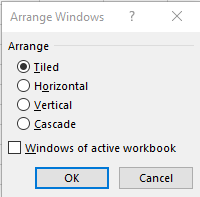Arrange windows