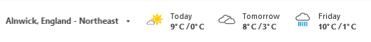 Add Weather to Outlook