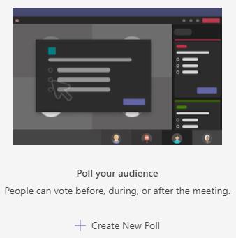 Create new poll in Microsoft Teams
