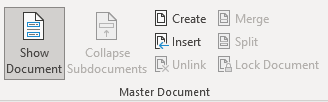 Master Document