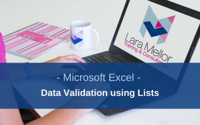 How to use data validation lists to produce consistent data